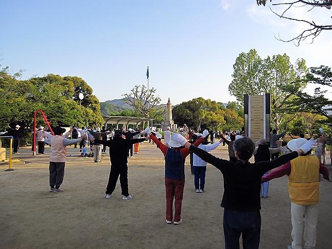 GWの朝活☆会下公園でラジオ体操♪