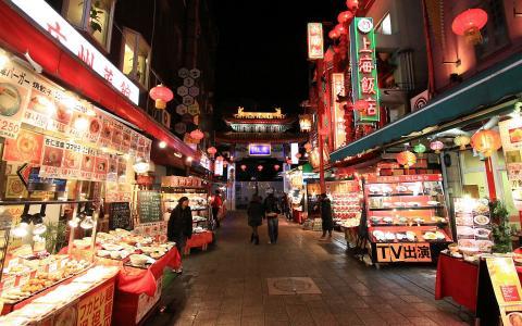 神戸南京町の夜景/WUXGA1920×1200