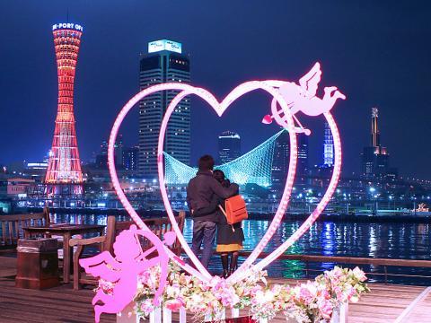 神戸のバレンタインデー夜景・XGA1024×768