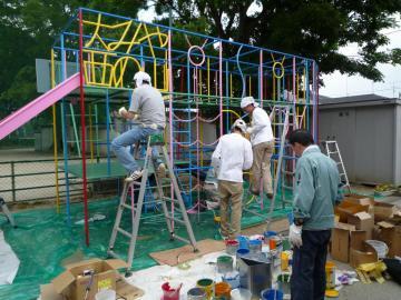 2008ボランティア塗装中