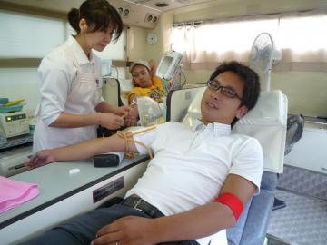 献血中の西本副会長