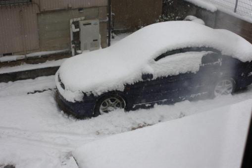 2012年2月2日の積雪