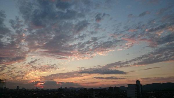 夕焼け14.11.6