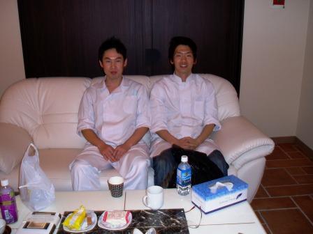 飯田先生、橘川君