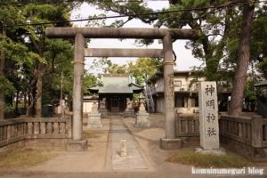 神明神社(川崎市中原区上小田中)1
