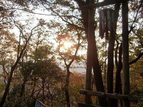 日和田山の夕焼け