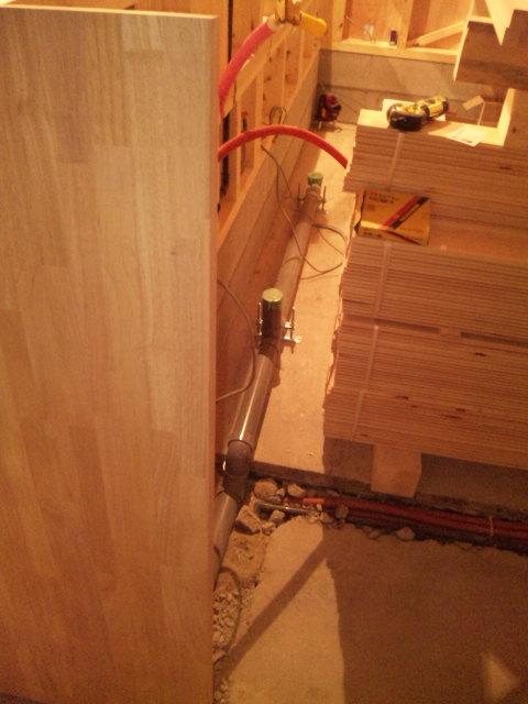 厨房内水道配管