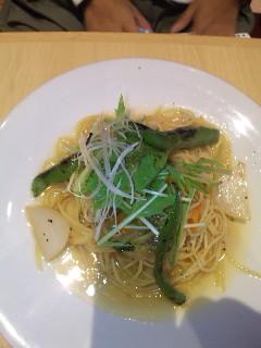京野菜のペペロンチーノ