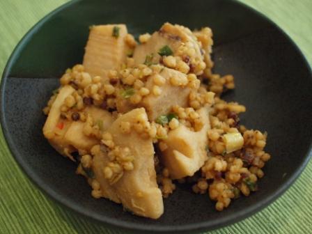 雑穀粟味噌レンコン