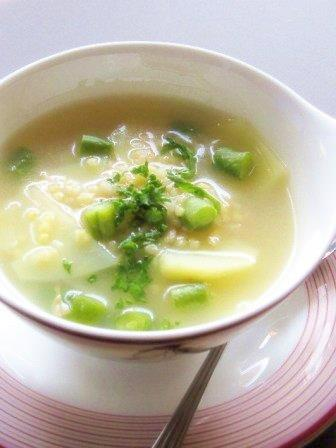 雑穀namiちゃんきびスープ