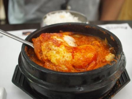 韓国料理豆腐チゲ