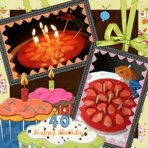 誕生日ケーキコラージュ