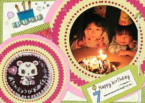 桃7歳ケーキ2