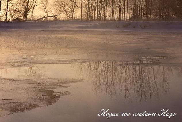 湖畔の夜明け2