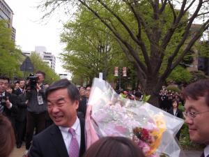 松沢知事退任