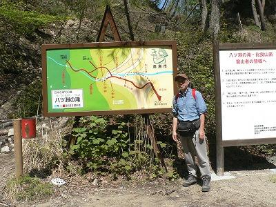 八淵の滝入口