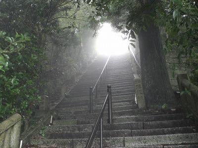 天上寺への石段