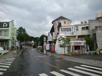 清里駅前は閑散としていました