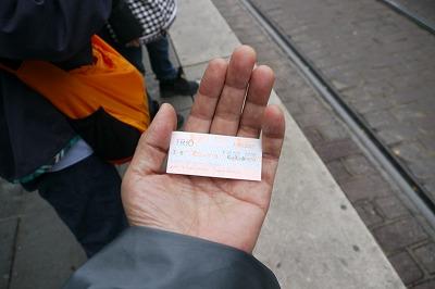 トラムのトリオという切符5.5ユーロ
