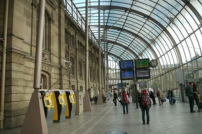 ストラスブール駅 ガラス張りの内部