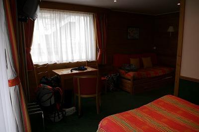 オテルドラルブの室内です。きれいでした
