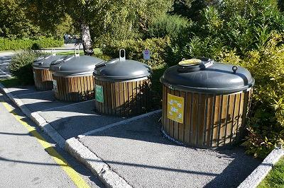 プラのまちのゴミ箱です。4種類です。