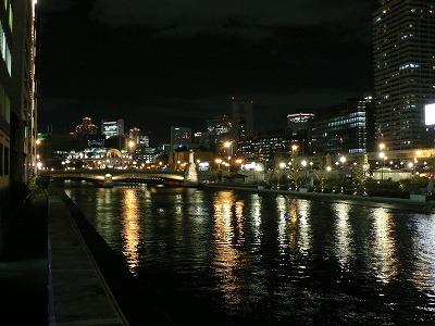 テラスから大阪市役所方面をみます