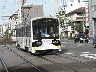 阪堺線の車両は床が高いです