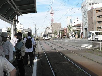 阪堺線乗り場から北を見る