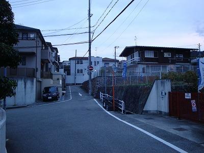 久保田自宅付近です