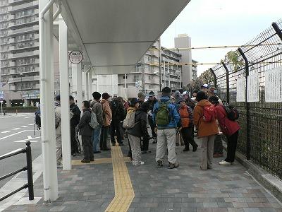 東寝屋川駅前に集合。出発は9時25分でした