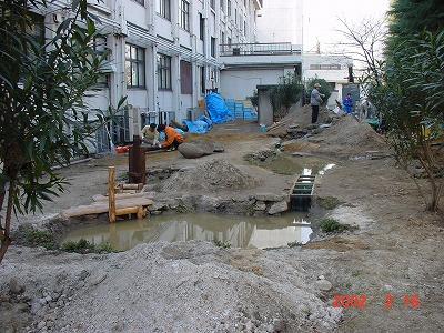 2002年2月ビオトープを整備しました