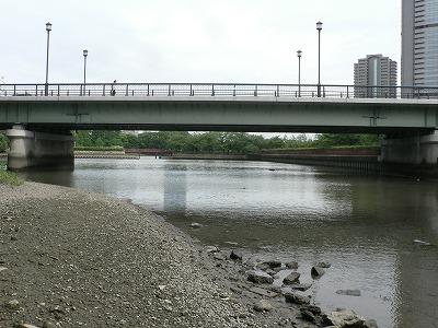 源八橋と北側の水面