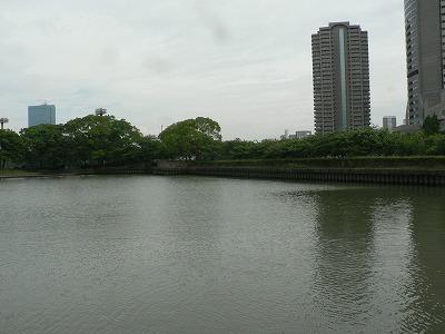 貯木場跡南側の水面