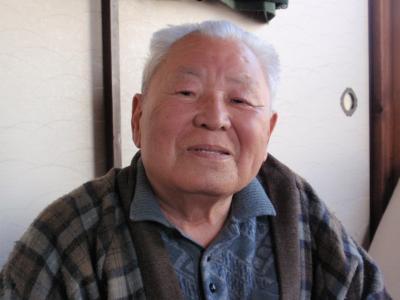 92歳の父。お肌つやつや、しわも少ない。
