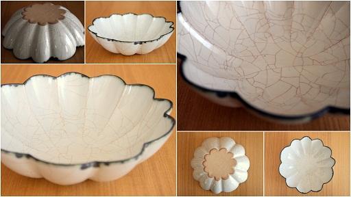 川口さんの輪花鉢