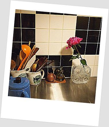 キッチンのお花
