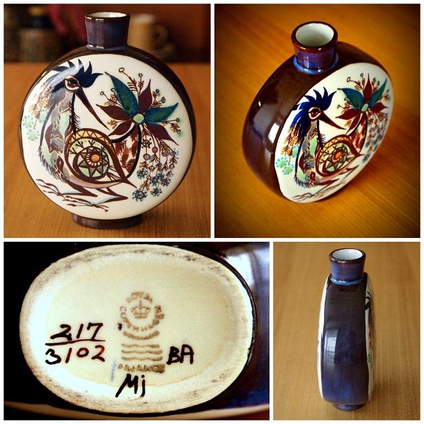 鳥花瓶(1)