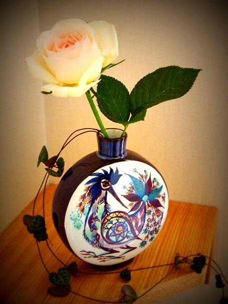 鳥花瓶(2)
