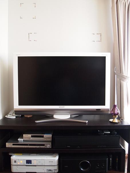 テレビの上