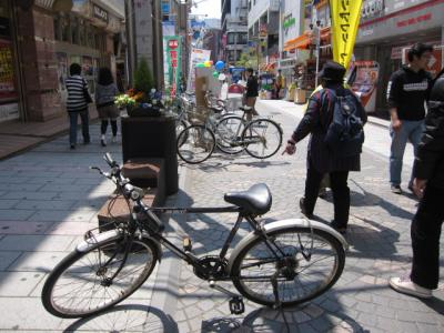 自転車が、自転車が。