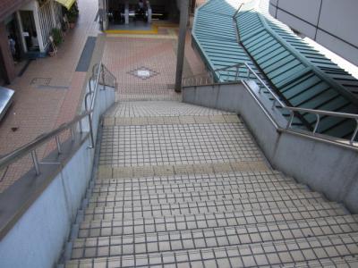 見えにくい階段の段差