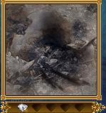 先史時代の焚き火跡