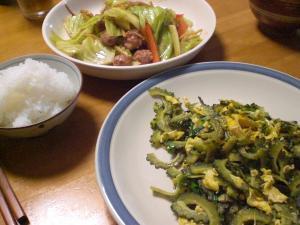 タイソーセージと野菜の炒め物