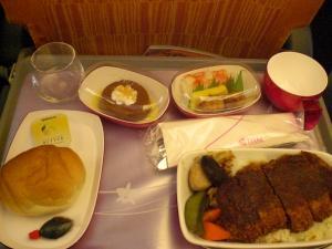 通常の機内食