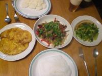 牛肉・セロリ・パプリカの炒め物