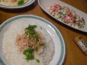 ツナおろし麺