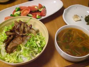 豚バラ生姜焼のせゴハン