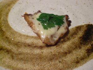 白身魚(鱈)のチーズのせ焼き