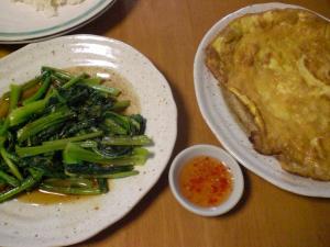 小松菜の炒め物・卵焼き